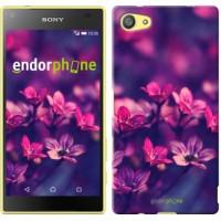 Чехол для Sony Xperia Z5 Compact E5823 Пурпурные цветы 2719c-322