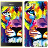 Чехол для Sony Xperia Z5 Compact E5823 Разноцветный лев 2713c-322