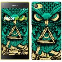Чехол для Sony Xperia Z5 Compact E5823 Сова Арт-тату 3971c-322