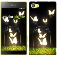 Чехол для Sony Xperia Z5 Compact E5823 Светящиеся бабочки 2983c-322
