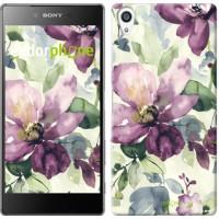Чехол для Sony Xperia Z5 Premium Цветы акварелью 2237u-345