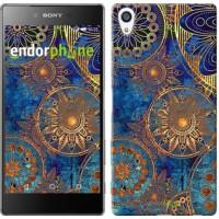 Чехол для Sony Xperia Z5 Premium Золотой узор 678u-345