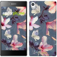 Чехол для Sony Xperia Z5 Premium Нарисованные цветы 2714u-345