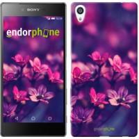 Чехол для Sony Xperia Z5 Premium Пурпурные цветы 2719u-345
