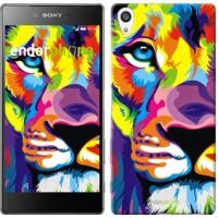 Чехол для Sony Xperia Z5 Premium Разноцветный лев 2713u-345