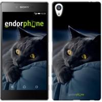 Чехол для Sony Xperia Z5 Premium Дымчатый кот 825u-345