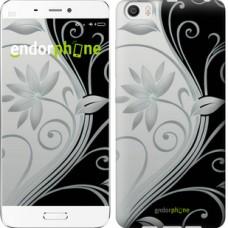 Чехол для Xiaomi Mi6 Plus Цветы на чёрно-белом фоне 840c-978