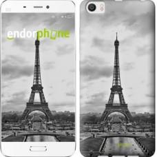 Чехол для Xiaomi Mi6 Plus Чёрно-белая Эйфелева башня 842c-978