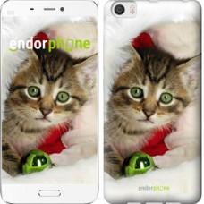 Чехол для Xiaomi Mi6 Plus Новогодний котёнок в шапке 494c-978