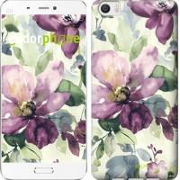 Чехол для Xiaomi Mi6 Plus Цветы акварелью 2237c-978