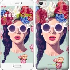 Чехол для Xiaomi Mi6 Plus Девушка с цветами 2812c-978
