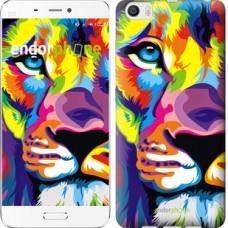 Чехол для Xiaomi Mi6 Plus Разноцветный лев 2713c-978