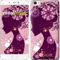 Чехол для Xiaomi Mi6 Plus Силуэт девушки 2831c-978