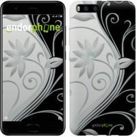 Чехол для Xiaomi Mi6 Цветы на чёрно-белом фоне 840c-965