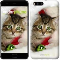 Чехол для Xiaomi Mi6 Новогодний котёнок в шапке 494c-965