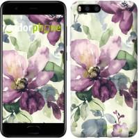 Чехол для Xiaomi Mi6 Цветы акварелью 2237c-965