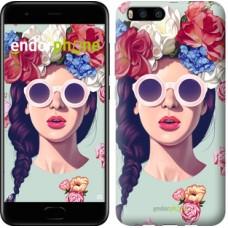 Чехол для Xiaomi Mi6 Девушка с цветами 2812c-965