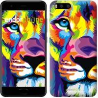 Чехол для Xiaomi Mi6 Разноцветный лев 2713c-965