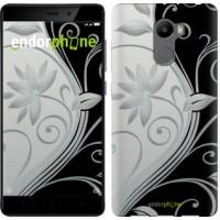 Чехол для Xiaomi Redmi 4 Цветы на чёрно-белом фоне 840m-417