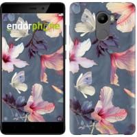 Чехол для Xiaomi Redmi 4 Нарисованные цветы 2714m-417