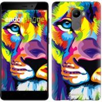 Чехол для Xiaomi Redmi 4 Разноцветный лев 2713m-417