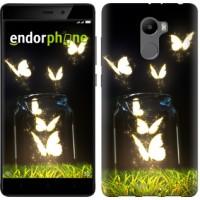 Чехол для Xiaomi Redmi 4 Светящиеся бабочки 2983m-417