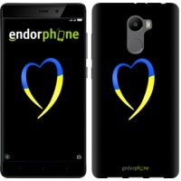 Чехол для Xiaomi Redmi 4 Жёлто-голубое сердце 885m-417