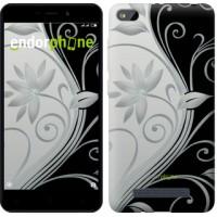 Чехол для Xiaomi Redmi 4A Цветы на чёрно-белом фоне 840m-631