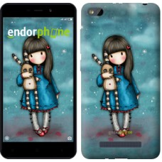 Чехол для Xiaomi Redmi 4A Девочка с зайчиком 915m-631