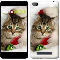 Чехол для Xiaomi Redmi 4A Новогодний котёнок в шапке 494m-631