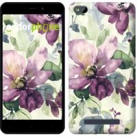 Чехол для Xiaomi Redmi 4A Цветы акварелью 2237m-631