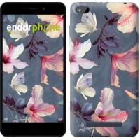 Чехол для Xiaomi Redmi 4A Нарисованные цветы 2714m-631