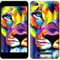 Чехол для Xiaomi Redmi 4A Разноцветный лев 2713m-631
