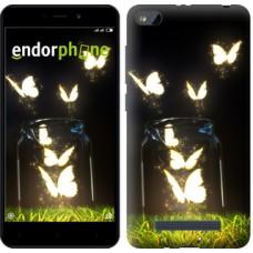 Чехол для Xiaomi Redmi 4A Светящиеся бабочки 2983m-631