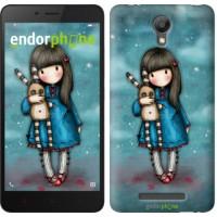 Чехол для Xiaomi Redmi Note 2 Девочка с зайчиком 915c-96