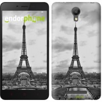 Чехол для Xiaomi Redmi Note 2 Чёрно-белая Эйфелева башня 842c-96