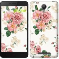 Чехол для Xiaomi Redmi Note 2 цветочные обои v1 2293c-96