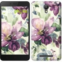 Чехол для Xiaomi Redmi Note 2 Цветы акварелью 2237c-96