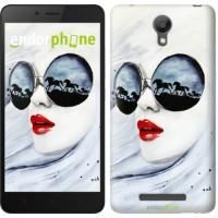 Чехол для Xiaomi Redmi Note 2 Девушка акварелью 2829c-96
