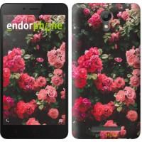 Чехол для Xiaomi Redmi Note 2 Куст с розами 2729c-96