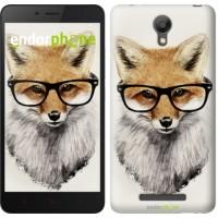 Чехол для Xiaomi Redmi Note 2 Лис в очках 2707c-96