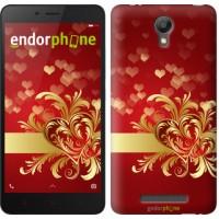Чехол для Xiaomi Redmi Note 2 Ажурные сердца 734c-96