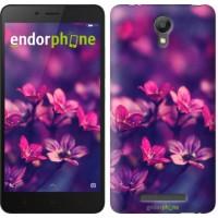 Чехол для Xiaomi Redmi Note 2 Пурпурные цветы 2719c-96