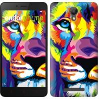 Чехол для Xiaomi Redmi Note 2 Разноцветный лев 2713c-96