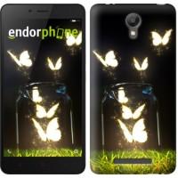 Чехол для Xiaomi Redmi Note 2 Светящиеся бабочки 2983c-96