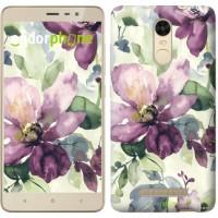 Чехол для Xiaomi Redmi Note 3 Цветы акварелью 2237c-95