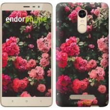 Чехол для Xiaomi Redmi Note 3 pro Куст с розами 2729c-335