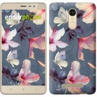 Чехол для Xiaomi Redmi Note 3 Нарисованные цветы 2714c-95