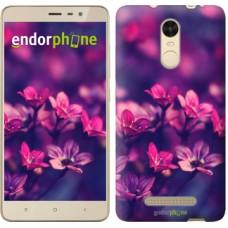 Чехол для Xiaomi Redmi Note 3 pro Пурпурные цветы 2719c-335