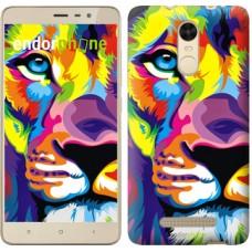 Чехол для Xiaomi Redmi Note 3 pro Разноцветный лев 2713c-335